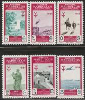 MARRUECOS-1954-ED. 394 A 399 SERIE COMPLETA PRO TUBERCULOSIS- NUEVO SIN FIJASELLOS - Marruecos Español