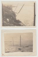 Deux Photos De Naufrage De Le Marguerite De Cherbourg A Rabat, 13 Octobre 1913 - Boats