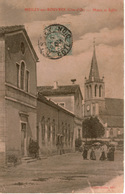 Cpa 21 MEILLY-sur-ROUVRES  Mairie Et église , Animée - Frankreich