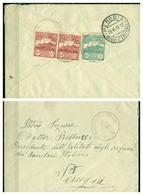V6758 SAN MARINO 1919 Lettera Affrancata Con Veduta 5 C. + Coppia 10 C., 16.6.19 Per Perugia, Annullo Di Arrivo, 5 C. - Saint-Marin