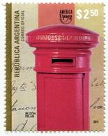 Lote A12, Argentina, 2011, Sello, Stamp, Upaep, Buzon, Postbox - Argentina