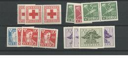 1945 MNH Sweden, Year Complete According To Michel, Postfris - Svezia