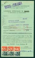 Z843 ITALIA LUOGOTENENZA 1946 EIAR Licenza Di Abbonamento Anno 1946 Con Sovrattassa Lire 3,00 Assolta Con Democratica 40 - 5. 1944-46 Luogotenenza & Umberto II