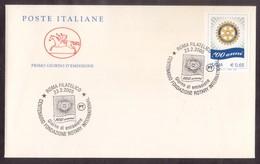 X23   Italia, Italy FDC 2005 ROTARY Centenary Special Postmark Roma - Rotary, Lions Club
