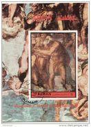 "Ajman 1972 Bf. 483A ""Giudizio Universale (Dettaglio : San Pietro)"" Affresco Dipinto Michelangelo Paintings Sheet  Perf. - Ajman"