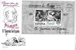 1981 CENTENARIO DE PICASSO → Primer Dia De Circulacion - 1931-Aujourd'hui: II. République - ....Juan Carlos I