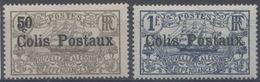 France, Nouvelle Calédonie : Colis Postaux N° 1 Et 2 X Neuf Avec Trace De Charnière Année 1926 - Dienstpost