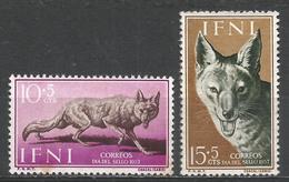 Ifni 1957. Scott #B31-2 (M) Fauna, Jackal ** Complet Set - Ifni