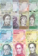 VENEZUELA 500 : 100000 Bolivares 2016 2017 P94 :P100 New UNC 7 NOTES SET */* - Venezuela