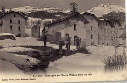 Randogne Sur Sierre Village Brule En 1901 ECRITE - VS Valais