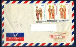 K407-  Postal Used Cover. Posted From Indonesia To Pakistan. Dress. - Indonesia