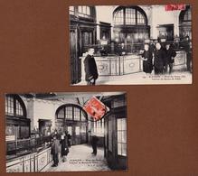 ALENCON 61 (  HOTEL DES POSTES INTERIEUR  ) LOT DE 2 CARTES BELES SCENES ! ! ! - Alencon