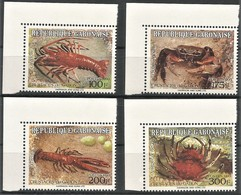1993 Gabon Crustaceans Set (** / MNH / UMM) - Crustaceans