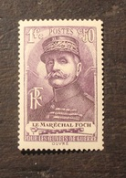 Timbre France  Marechal FOCH Neuf Sans Charnière  Yt 455 1940 - Unused Stamps