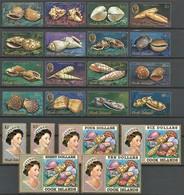 1974-75 Cook Islands Definitives: Sea Shells Set (** / MNH / UMM) - Coquillages