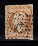Napoleon YV 13A Oblitere PC 2878 De Sens Sur Yonne Sans Defaut - 1853-1860 Napoleon III