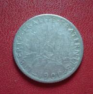 FRANCE 1 FRANC SEMEUSE 1901 ARGENT     (B1012) - Frankreich
