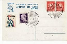 9350 TRIESTE MOSTRA DEL MARE 1935 - ERINNOFILO - 1900-44 Vittorio Emanuele III