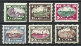 LETTLAND Latvia 1928 Michel 132 - 137 * Mi 137 Signed Richter - Lettland