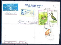 K472- Postal Used Cover. Posted From Kenya To Pakistan. Birds. Plants. Coconut. - Kenya (1963-...)