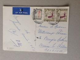 Rhodésie Et Nyasaland Bel Affranchissement Par Air Mail 1962 - Timbres