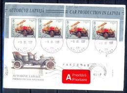 K473- Postal Used Cover. Posted From Latvija Latvia To Pakistan. Automobile. Car. Transport. - Latvia