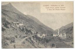 CARTE POSTALE COGNE / CAPO LUOGO POUSSET E CIMA DEL MONTE BIANCO - Italie