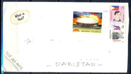 K476- Postal Used Cover. Posted From Phlinas Philippines To Pakistan. Flag. Animals. Cow. - Philippines
