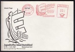 Germany Westerland 1967 / Europa Youth Meeting Island - Germany / Island Day In Sylt / Ship / Machine Stamp, EMA - Europäischer Gedanke