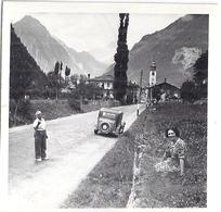 VALDIGNA D'AOSTA  (VALLEE D'AOSTE) 7/8/1938   AU FOND LE MASSIF DU MONT-BLANC   Photo Animée - Lieux