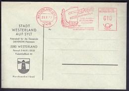 Germany Westerland 1967 / Europa Youth Meeting Island - Germany / Sylt / Ship / Machine Stamp, EMA - European Ideas