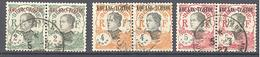 Kouang-Tchéou: Yvert N° 57-59-60°; Les 3 Paires - Used Stamps
