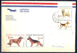 K494-  Postal Used Cover. Posted  From Czech Republic To Pakistan. Animals. Dog. - Czech Republic