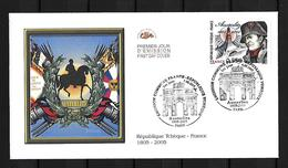 2005 Joint/Commune France And Czech Republic, FDC FRANCE WITH STAMP: Battle Of Austerlitz - Joint Issues