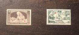 2 Timbres France  Blessés Croix Rouge Neufs Sans Charnière  Yt 459 Et 460    1940 - France