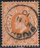 GB 1909 Yv. N°122 - 4p Orange - Oblitéré - 1902-1951 (Re)