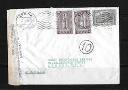 1941 GRIECHENLAND → Zensur-Brief Athen Nach London - Grèce