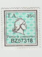 Timbres Fiscaux -  1 Timbre Amende Millésime 03 Partie à Conserver - Fiscali