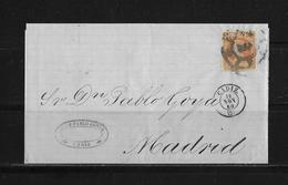 1860 SPANIEN → Brief Cadiz Nach Madrid - Lettres & Documents