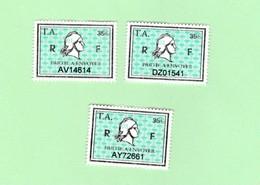 Série 3 Timbres Fiscaux Millésime 01 02 Et 03 -  3 Timbres Amende - N° 34 - Steuermarken