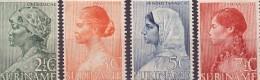 Suriname NVPH Nr 190/193 Ongebruikt/MLH Weldadigheid Wellfare 1940 Creole, Javan, Hindu, Indian Culture - Suriname ... - 1975
