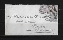 1885 GROSSBRITANNIEN → Brief Edinburgh Nach Baden Österreich - 1840-1901 (Victoria)