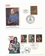 Austria  Exhibition Franz Joseph San Marino Christmas Paintings Special Cancel 1980-87 A04s - Europe (Other)