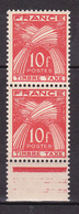 N° 76 Taxes 10f Rouge Orange: Une Paire De 2 Timbres Neuf Impeccable - Taxes