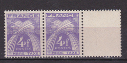N° 74 Taxes 4f Violet : Une Paire De 2 Timbres Neuf Impeccable - Taxes