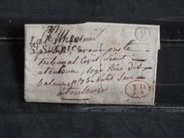 LAC De La Pointe St Sulpice à Toulouse - 1836 - Marque Postale Cursive, B Et 1d. Dans Un Cercle - 1801-1848: Precursors XIX