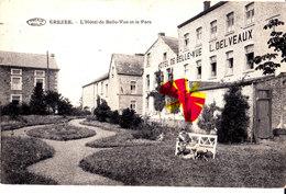 EREZEE - L'Hôtel De Belle-Vue Et Le Parc ( L. DELVEAUX écrit Sur La Façade De L'Hôtel) - Erezée
