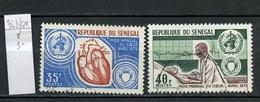 Sénégal 1972 Y&T N°363 à 364 - Michel N°(?) (o) - Mois Du Cœur - Senegal (1960-...)