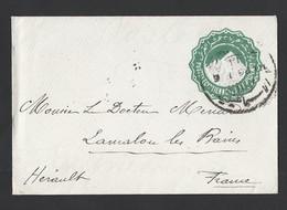 Enveloppe Entier Poste Égyptienne Vers Lamalou Les Bains TAD Verso 9/1/98 - Égypte