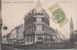 CPA La Louvière - Rues De La Loi Et Du Commerce - La Louvière